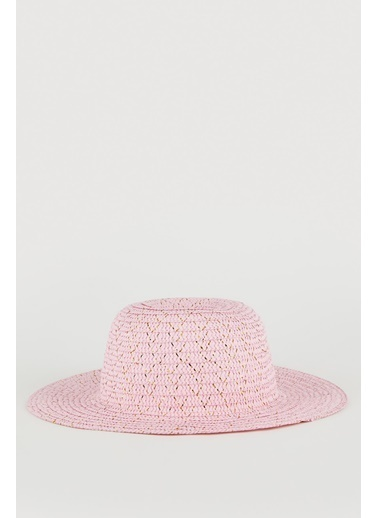 DeFacto Kız Çocuk Hasır Şapka Pembe